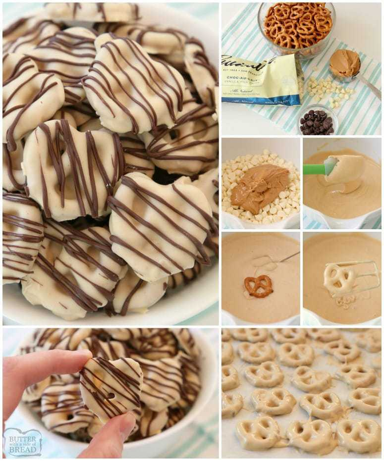 Peanut Butter Pretzels are made with 4 simple ingredients and they're completely amazing! Easy treats made with peanut butter, pretzels, and chocolate & perfect for anytime!