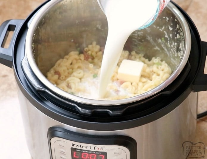 Homemade Macaroni and Cheese Recipe made in the Instant Pot