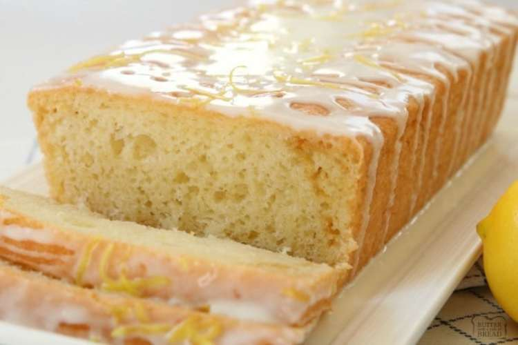 Yogurt Lemon Bread is made with tangy lemon yogurt & topped with a sweet lemon glaze. Incredible flavor and perfectly light & moist lemon bread recipe. The addition of yogurt to this lemon bread recipe is such a great idea as it keeps the bread moist and adds a nice delicate texture.