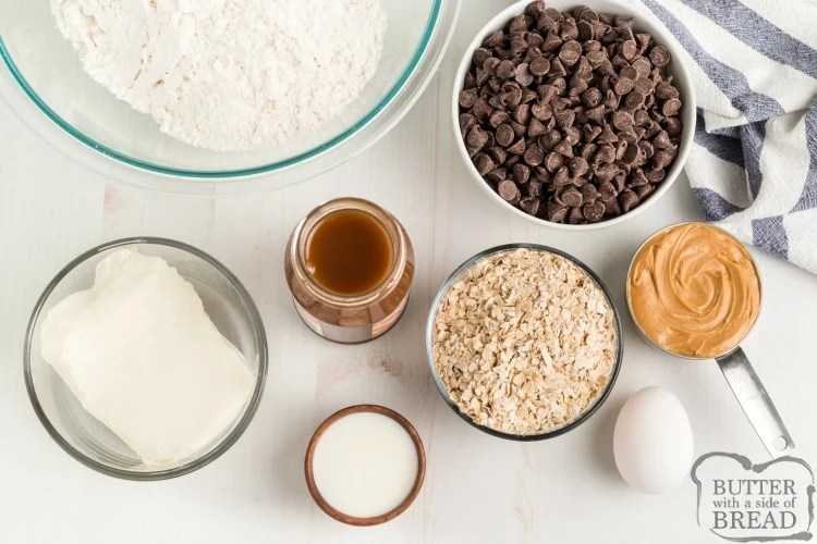 Ingredients in Chocolate Caramel Peanut Butter Bars
