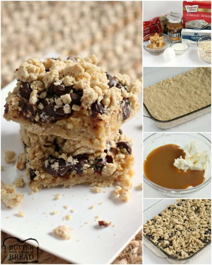 How to make Chocolate Caramel Peanut Butter Bars - step by step instructions