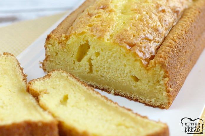 This amazing recipe for Easy Lemon Bread only calls for five ingredients! The consistency is perfect and the lemon flavor is incredible in this easy quick bread recipe.