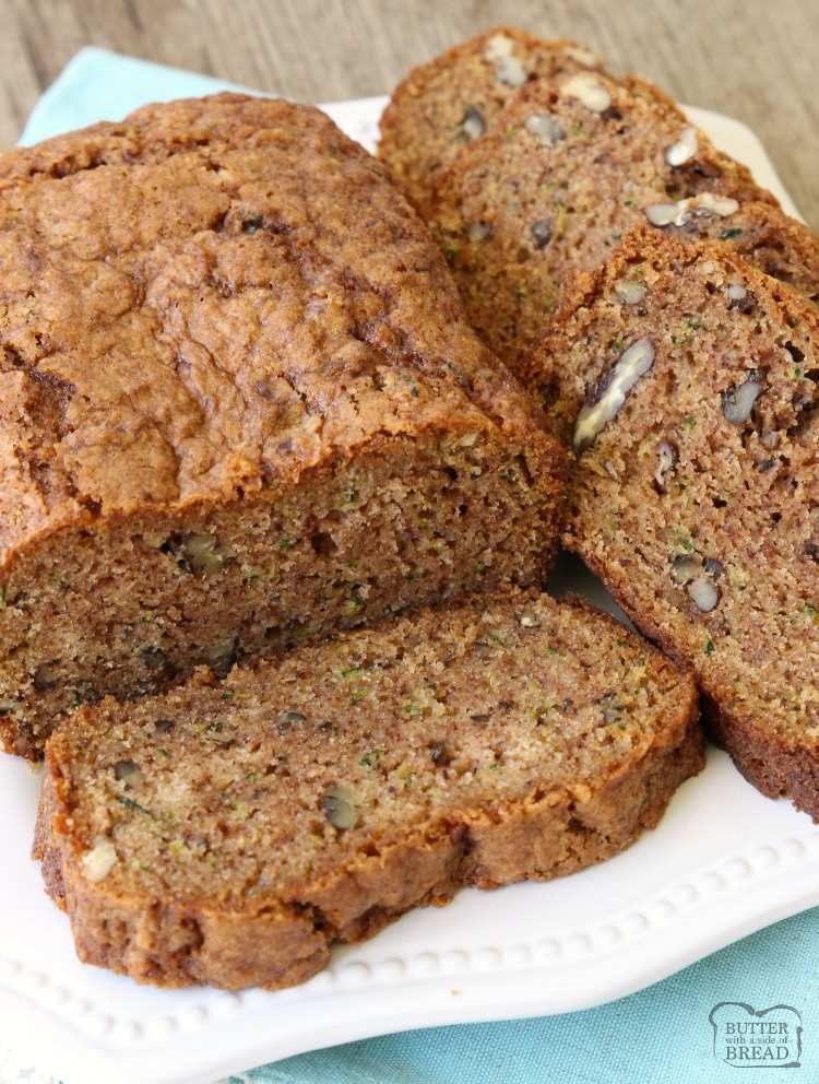 Zucchini Bread recipe that lives up to the name, BEST EVER Zucchini Bread! Easy to make & you'll love the blend of spices used. Read the reviews- it's popular for a reason! It really is the perfect zucchini bread recipe.