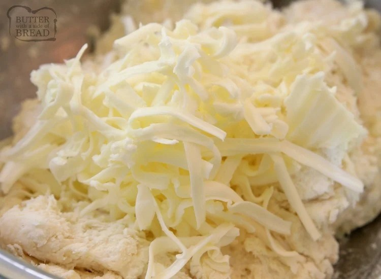 grated butter in easy biscuit recipe