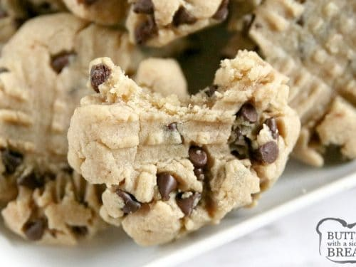 The Best Peanut Butter Chocolate Chip Cookies Butter With A Side Of Bread