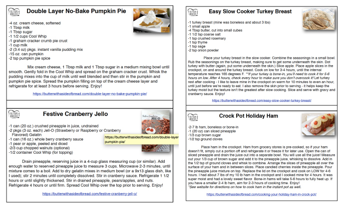 Simple and Delicious Thanksgiving Recipes