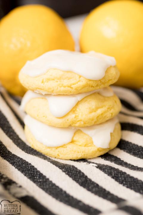 cake mix cookies (using lemon cake mix)