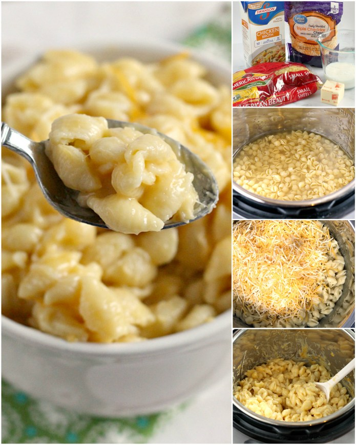 Instant Pot Macaroni and Cheese is made with just a few simple ingredients - noodles, chicken broth, butter, milk and cheese. This macaroni and cheese recipe only requires 5 minutes of cooking time and it is one of the easiest Instant Pot recipes ever!
