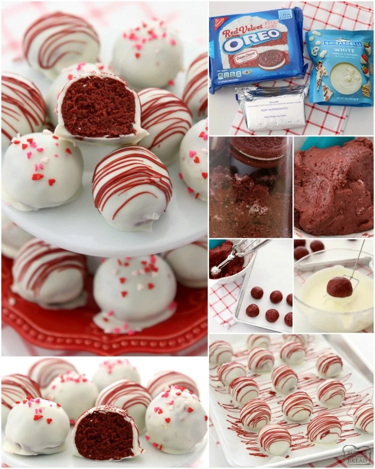 Red Velvet Oreo Balls made with just 3 ingredients & perfect for Valentine's Day! Made in minutes and so delicious, no one can guess they're made with Oreo cookies!