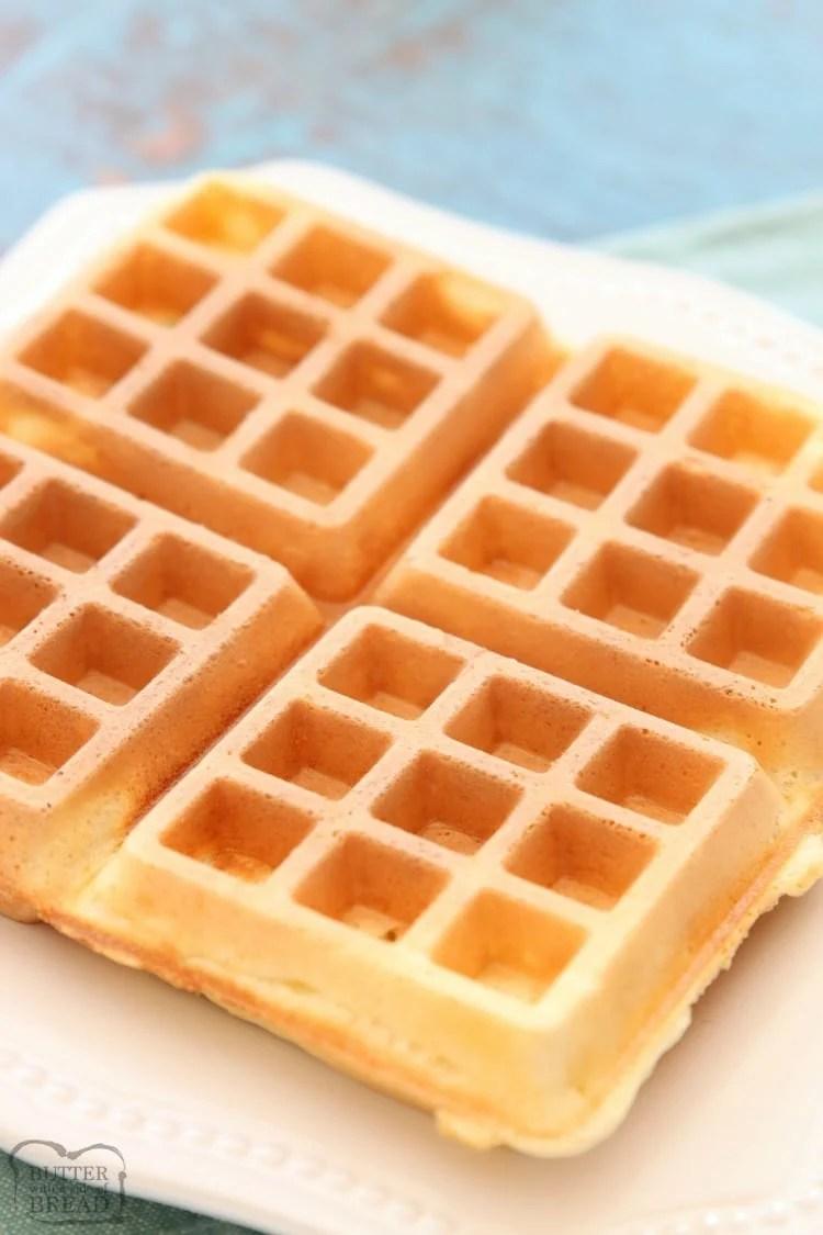 Crispy Belgian Waffles recipe