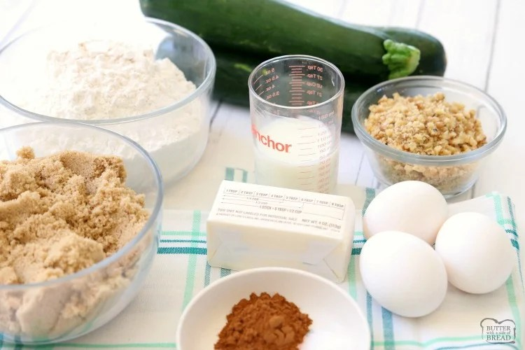 zucchini bar ingredients
