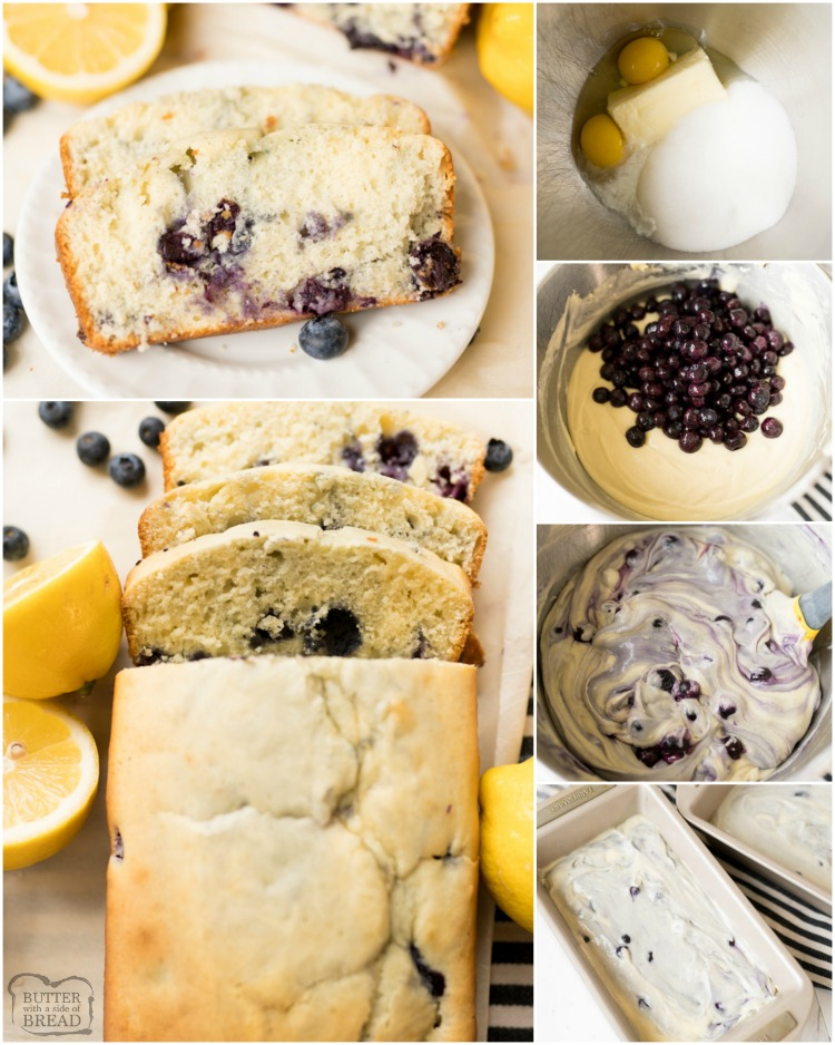 Lemon Blueberry Quick Bread is a deliciously moist and fresh quick bread recipe loaded with blueberries and bright lemon flavor. The quick bread is the perfect addition to any brunch menu!