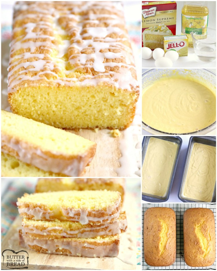 Easy Lemon Bread is moist, full of lemon flavor and made with only five ingredients! This lemon bread recipe is easy to make and is soft and delicious!