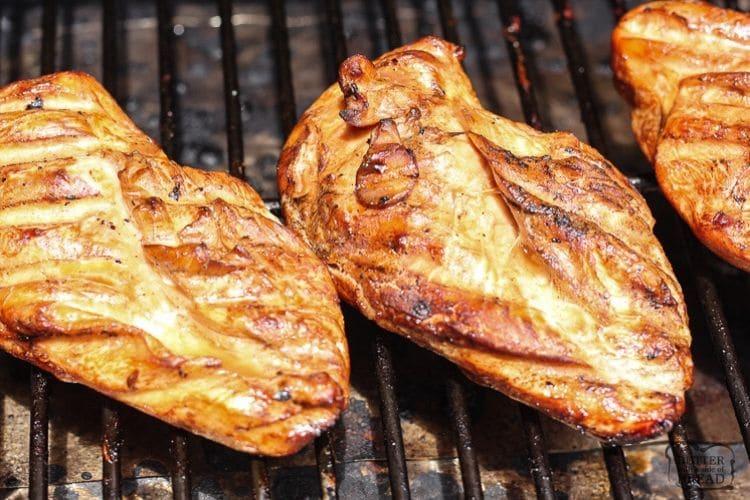 grilling teriyaki chicken