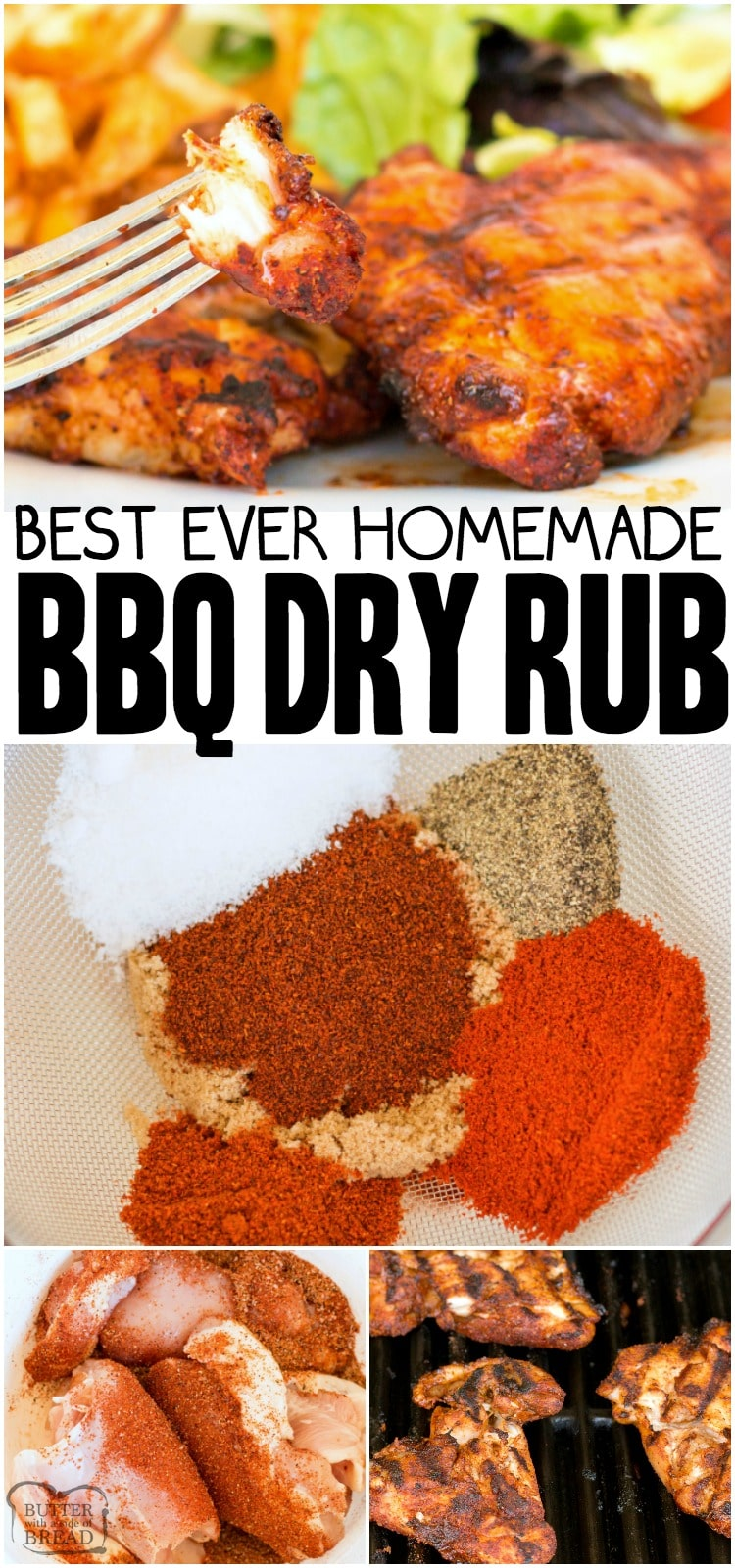 Bbq Rub Recipe Butter With A Side Of Bread
