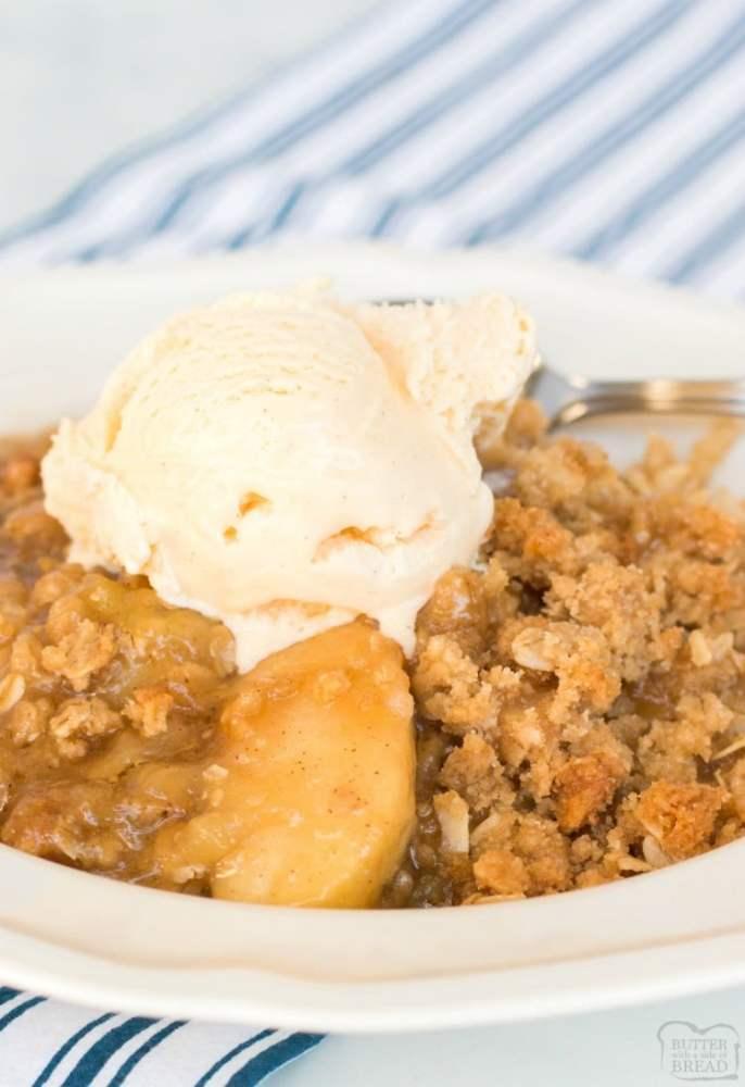 apple crisp recipe with ice cream