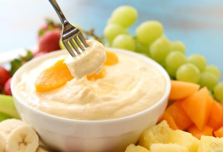 peaches and cream fruit dip