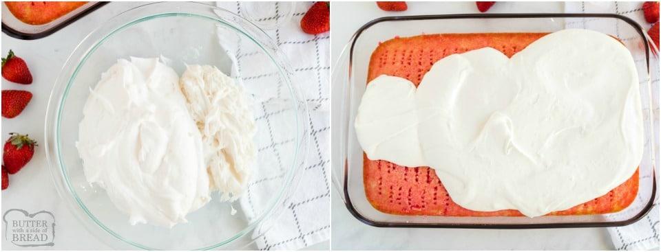How to make Jello Poke Cake