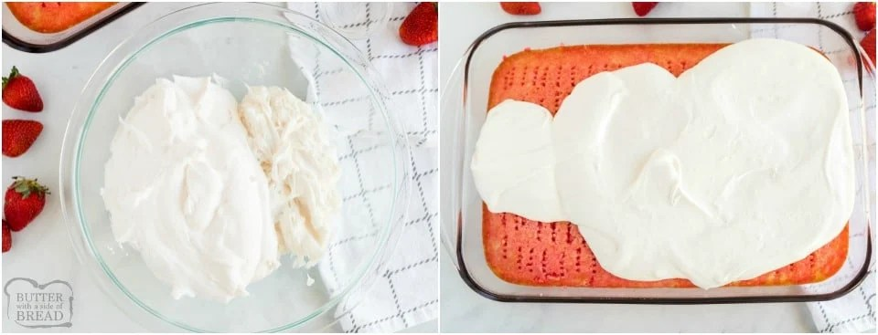 How to make Jello Poke Cake