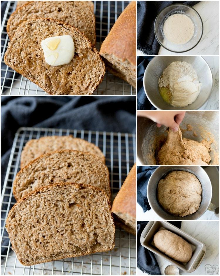 How to make honey whole wheat bread recipe