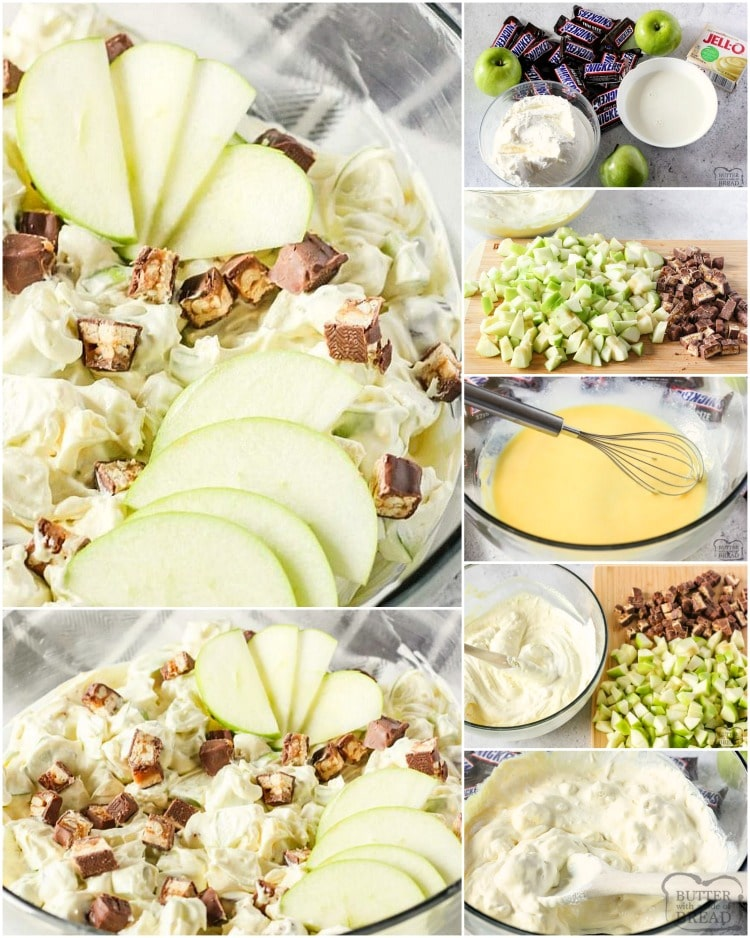 How to make snicker apple salad recipe