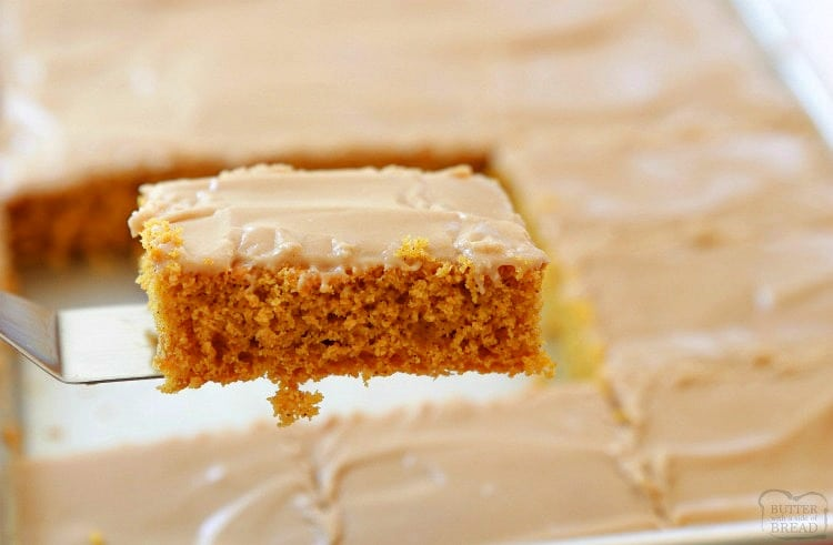 maple frosted pumpkin bars