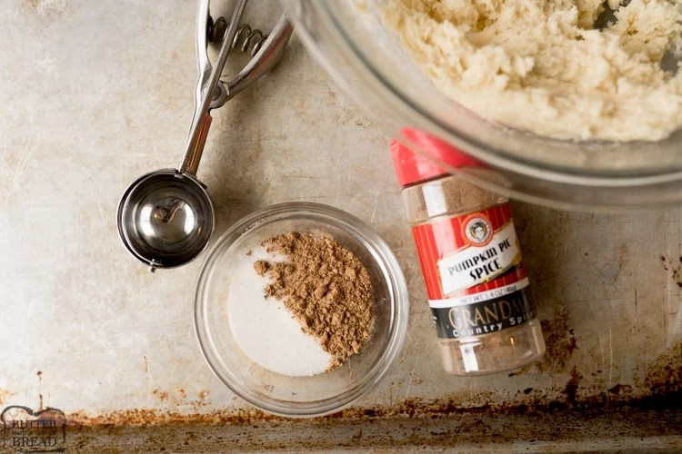pumpkin pie spice with sugar for the snickerdoodle cookies