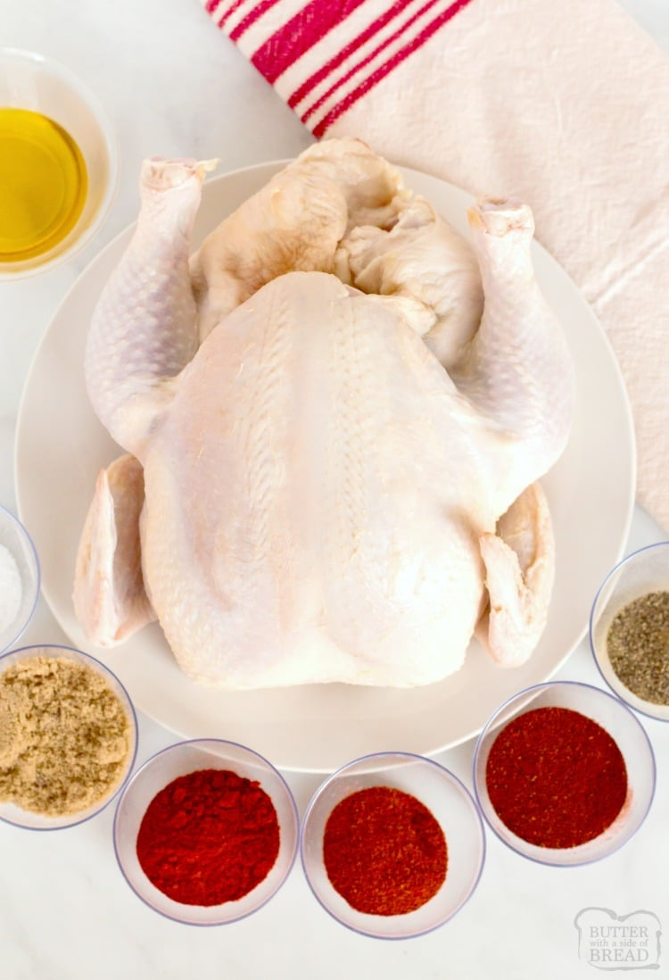 ingredients needed to make spatchcock chicken