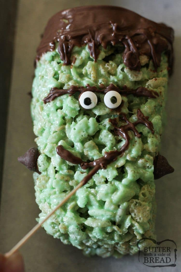 rice krispie frankenstein