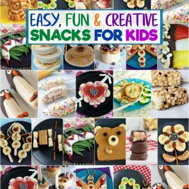 Snacks with Bananas are fun & healthy snacks perfect for even the pickiest of kids! These banana snacks are perfect for breakfast, lunch, snacks and treats!