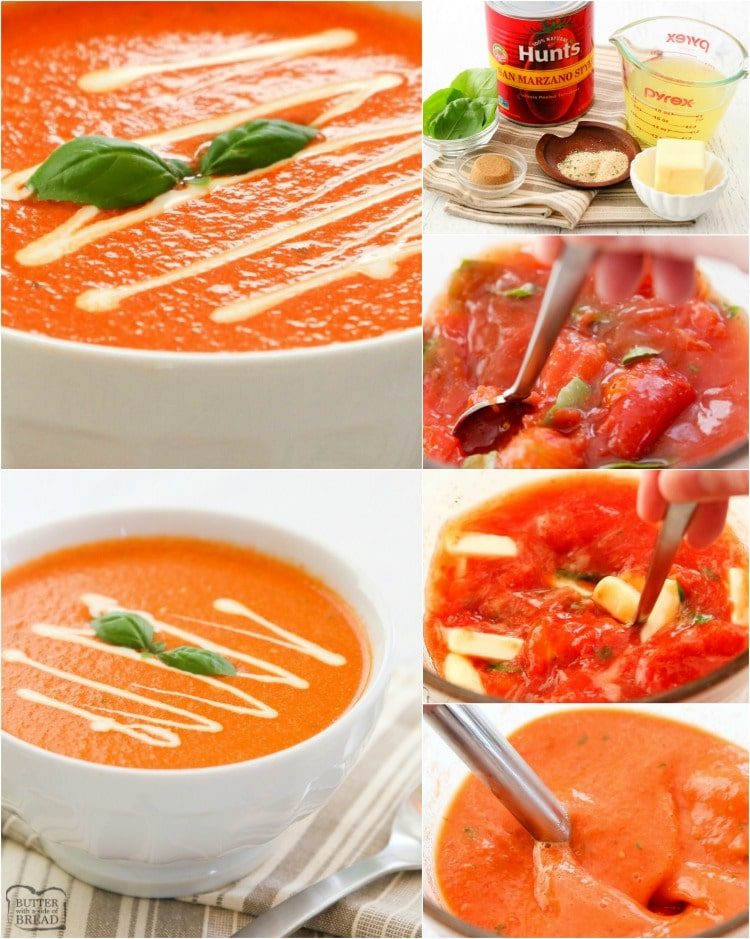 how to make tomato basil soup recipe