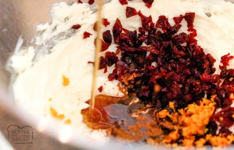 whipped butter with orange and cranberries