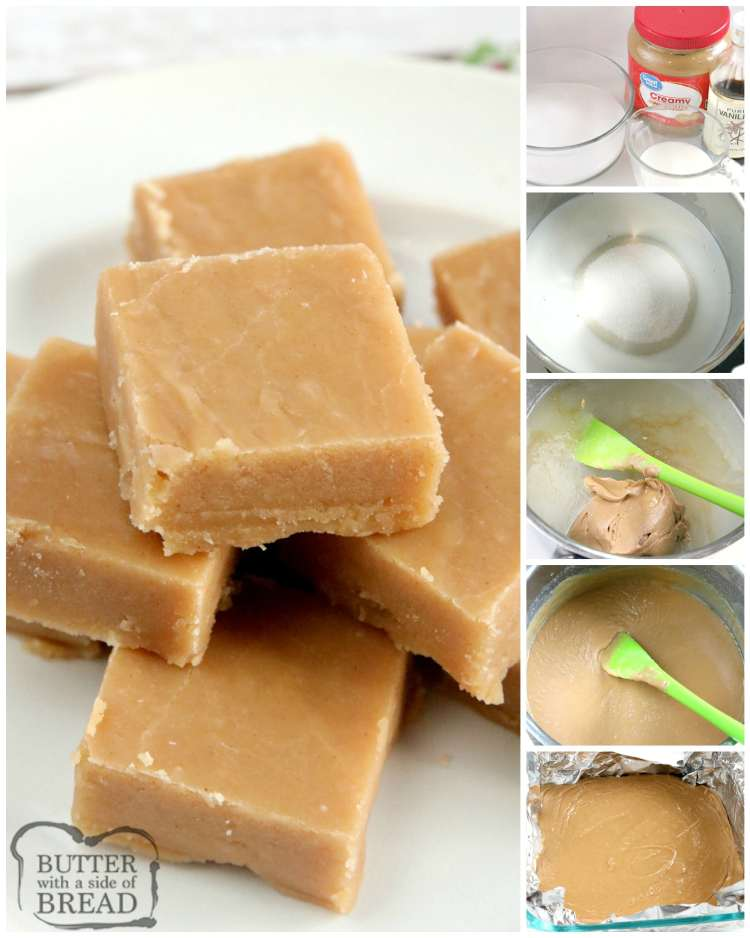Step by step instructions on making easy peanut butter fudge recipe