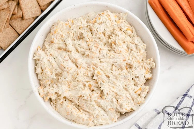 Dip made with chicken and cream cheese