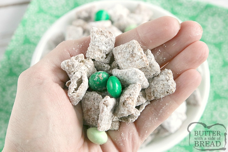 Handful of Mint Muddy Buddies
