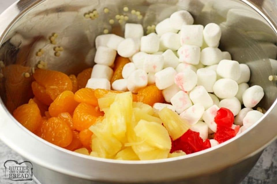 fruit salad with marshmallows