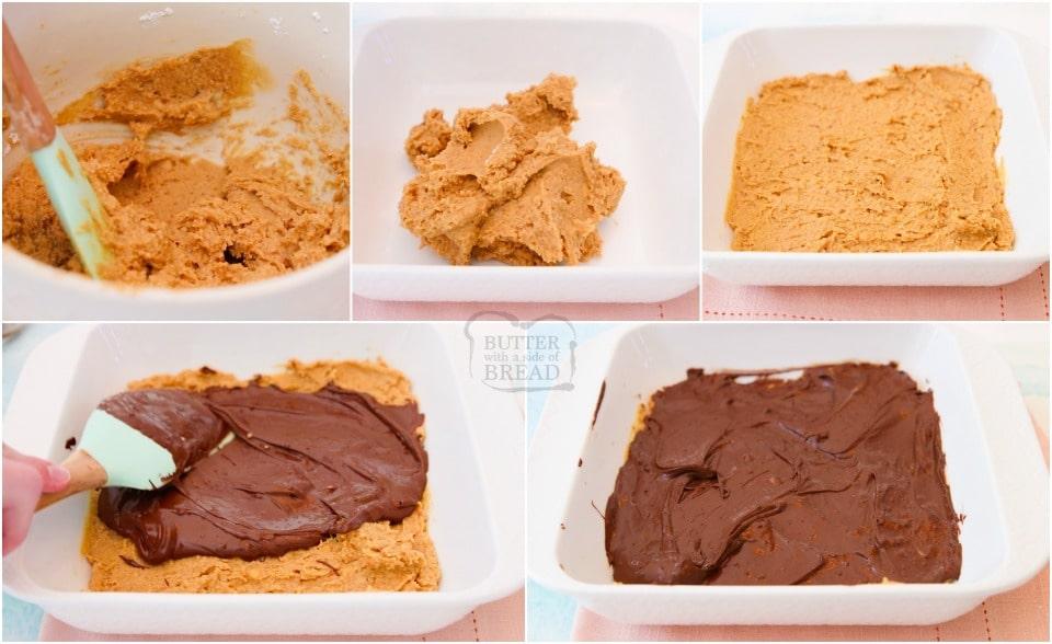 How to make No Bake Chocolate Peanut Butter Bars