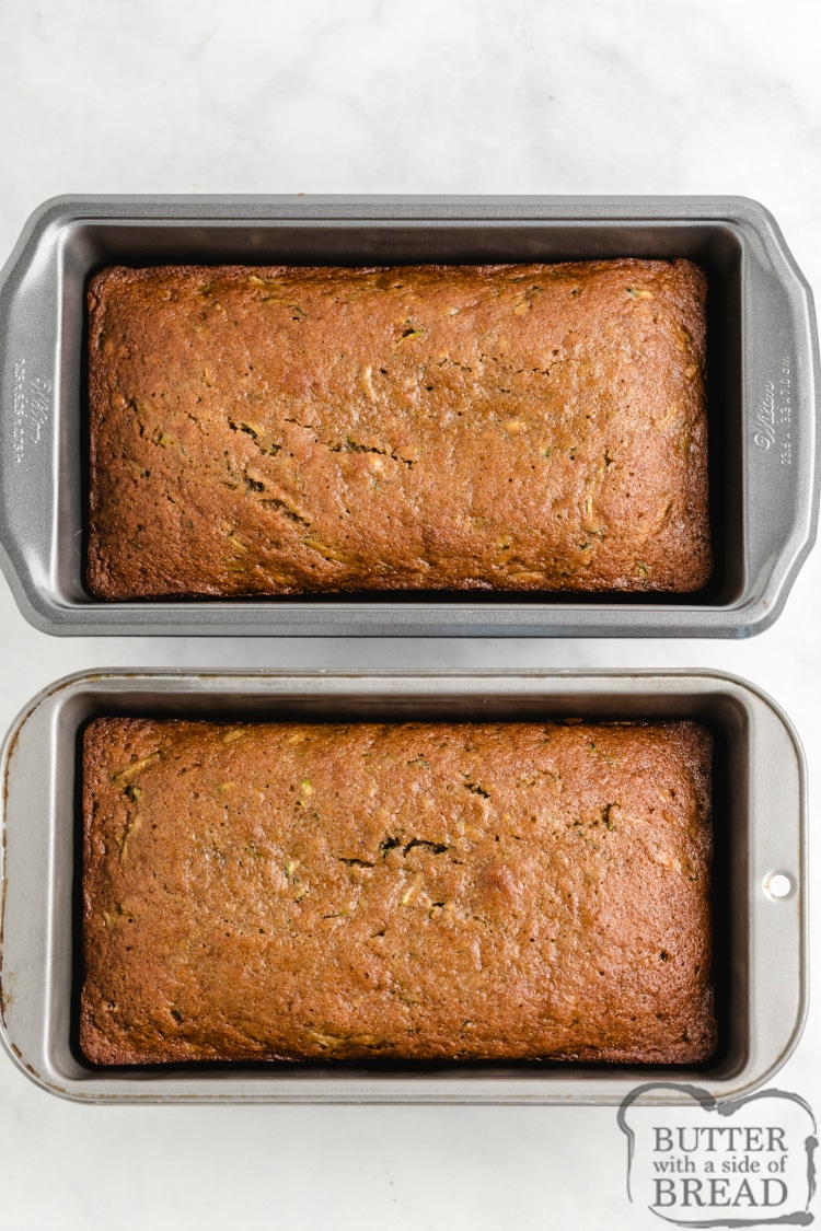 Banana bread with grated zucchini
