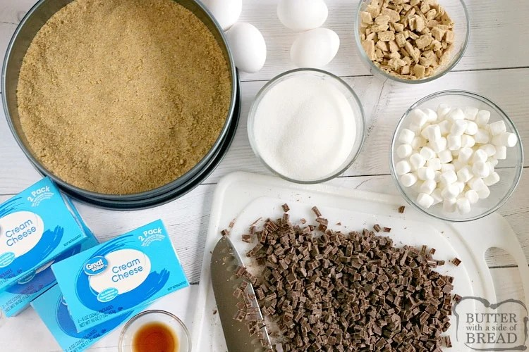 Ingredients in S'mores Cheesecake