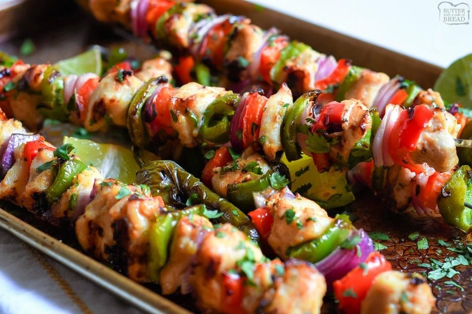 Fajita Chicken Kabobs recipe