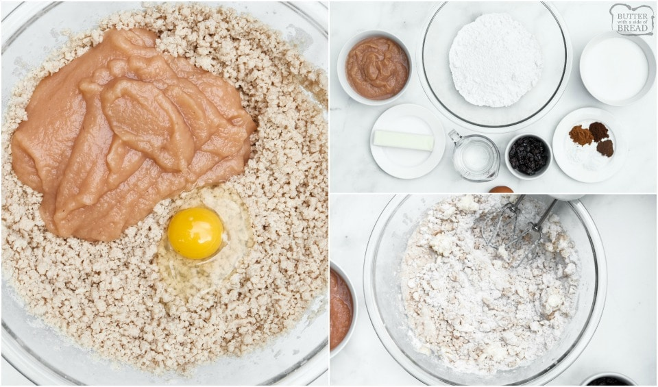 ingredients for Frosted Cinnamon Applesauce Cake recipe