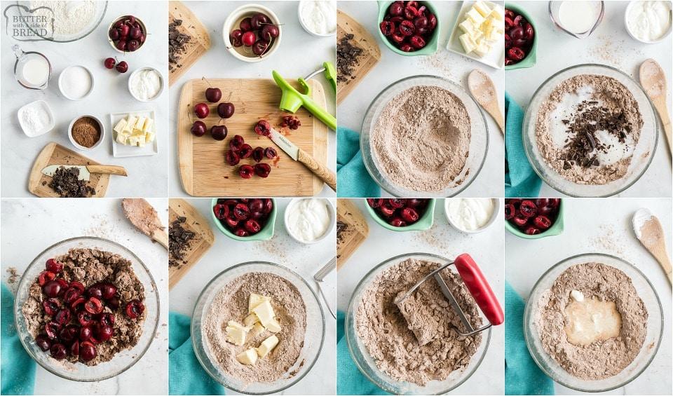 How to make Homemade Cherry Chocolate Scones recipe