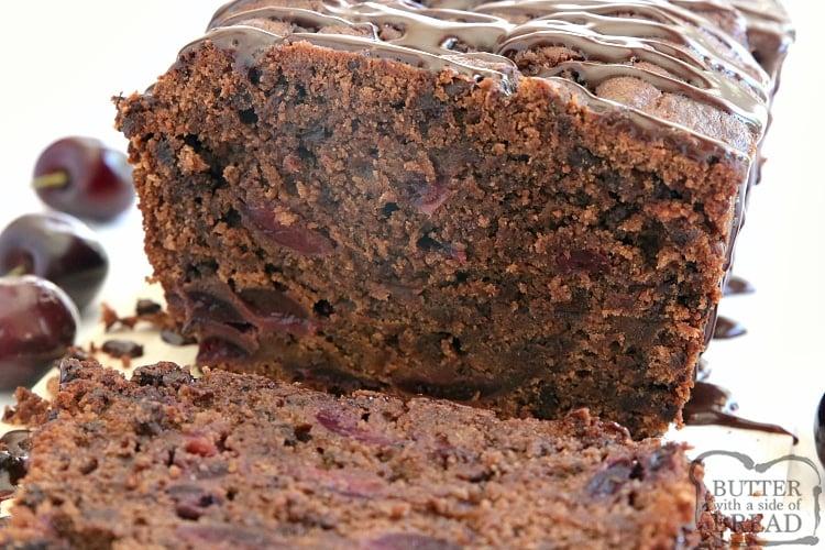 Chocolate cherry quick bread