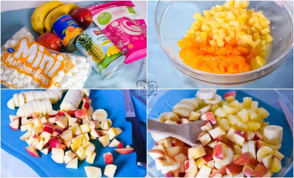 How to make Fruit Salad with Cool Whip