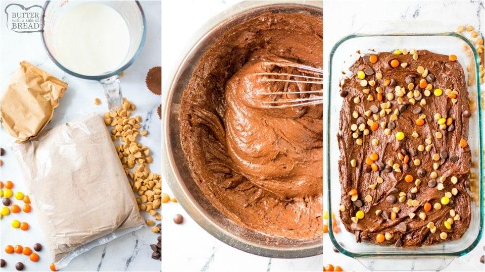 How to make Easy Reese's Chocolate Dump cake recipe