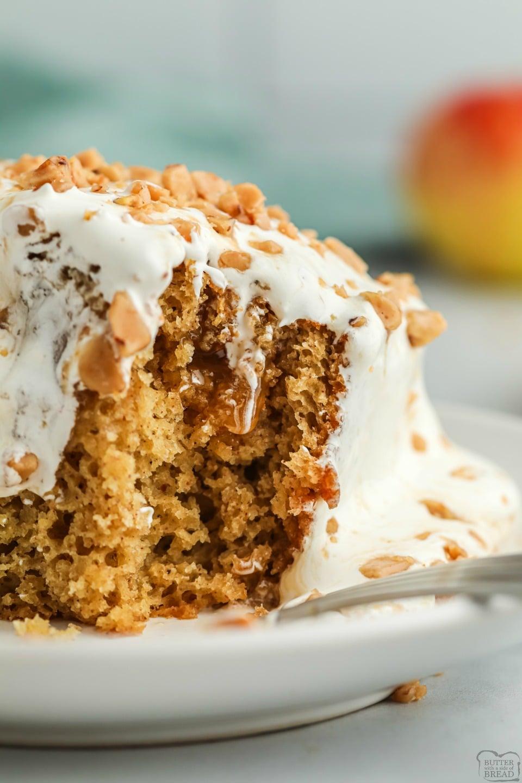 Caramel Apple Poke Cake recipe