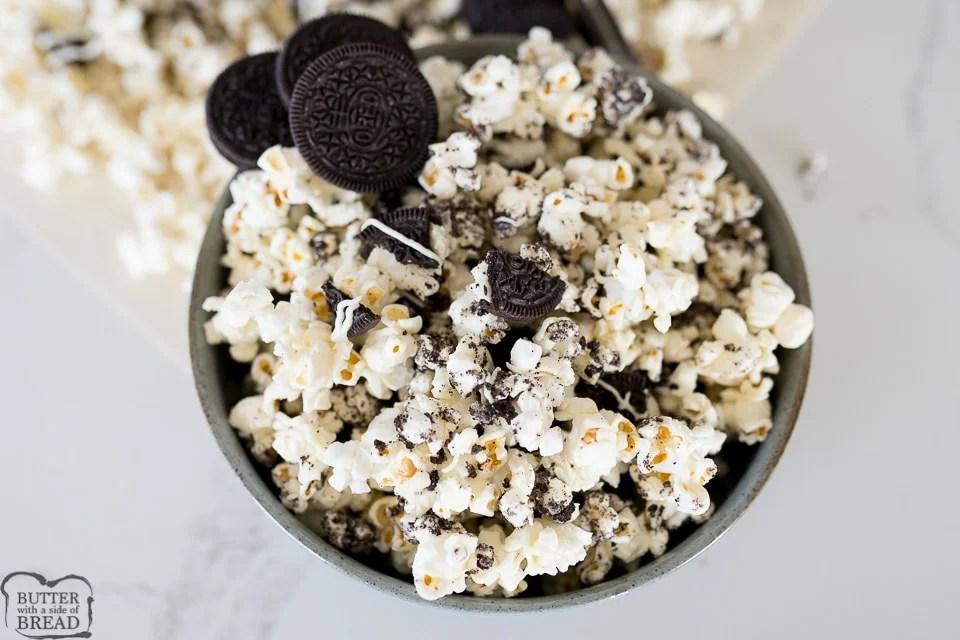 Easy Oreo Popcorn recipe