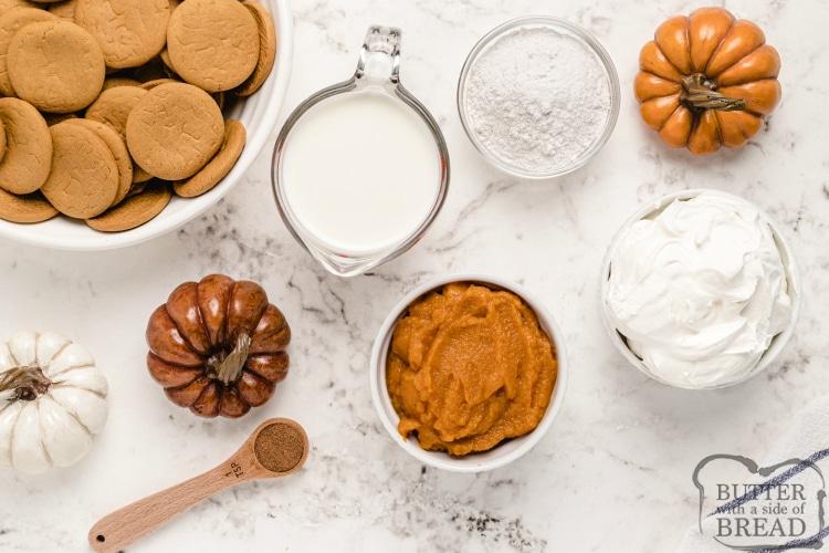 Ingredients in simple pumpkin mousse