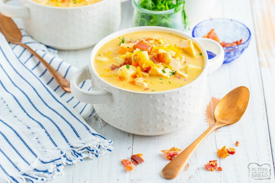 Leftover Turkey Corn Chowder soup recipe