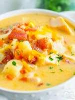 Leftover Turkey Corn Chowder soup recipe